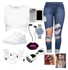 """""""#madisphonecasecontest """" by lovermonster ❤ liked on Polyvore featuring Topshop, NIKE, GUESS, Moschino, Skullcandy and Madisphonecasecontest"""