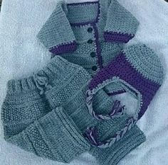 Three Piece Hand Knit Baby Set Hat, Pants & Sweater 0-3 months Winter Spring Fall Hand Made Accessories Shower gift Baby Basket Filler by LorisArtisanAccesrys on Etsy