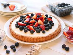 red, white, and blueberry tart: adorable