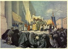 Vittorio Boron  THE FEAST OF CORPUS CHRISTI  VALLETTA MALTA 1909