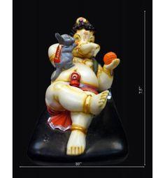 Lord Ganesh Murti Built upon Material type like Marine Plywood & Antique fibers.  Free shipping to India.Online  http://www.krafthub.com/idols/statues/playing-ganesh-witn-chuha.html
