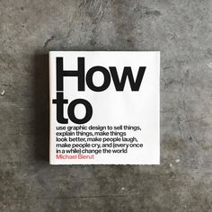 From our sister IG @designmilkeveryday, this #book needs a place on every #graphicdesigner's shelf. 📘How t
