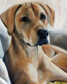 Rhodesian Ridgeback Portrait by Mary Sparrow Fine Art To commission a painting of your pet contact the artist  at hangingthemoon@gmail.com