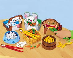 Lakeshore's Feed-The-Animals Fine Motor Games: Watch as these young learners feed adorable animals tasty treats—and build fine motor skills with every bite!