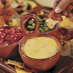 Chile con Queso Recipe _ Diced green chiles can be substituted for roasted green chiles.