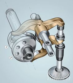 desmodromic valve operation illustration