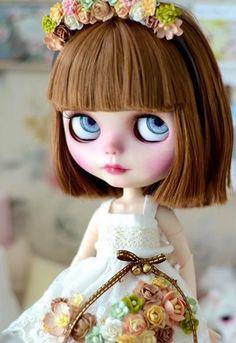 OOAK Custom Blythe Doll made by mapoupeecherie