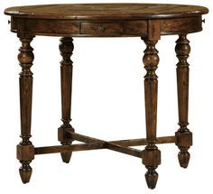 Rustic Warm Game/Card Table - CL-HGB-50 - Rustic Warm Game/Card Table - CL-HGB-50 by Comfortable LivingThis stunning collection has its focus on the French Provincial styles - very rustic very warm deeply cozy and extremely appealing. One of the very original aspects of this rural style is the extensive use of natural materials and wood details. Each piece features distinctive architecture such as rustic beams stone details heavy metal accessories and the use of contrasting light and dark…