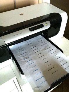 By Lisouli: DIY : faire ses propres étiquettes sur tissu
