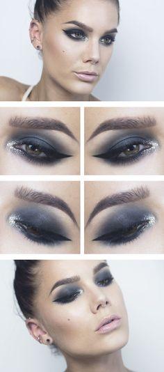 Todays look – Glittery Cat eye - Linda Hallberg