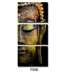 Kreative Arts - Modern Buddha Head Portrait Painting Printed On Canvas Religion Wall Art Triptych Canvas Painting Home Decoration Wall Murals Ready to Hang Buddha Canvas, Buddha Wall Art, Buddha Painting, Buddha Head, Buddha Face, Canvas Frame, Canvas Wall Art, Wall Art Prints, Canvas Prints