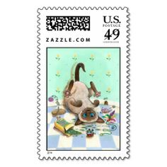 SPACE CAT-DET STAMP. Wanna make each letter a special delivery? Try to customize this great stamp template and put a personal touch on the envelope. Just click the image to get started!