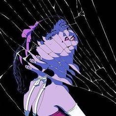 Manga Anime, Anime Art, Satoshi Kon, Blue Anime, Bizarre Art, Animes Wallpapers, Fanart, Aesthetic Anime, Dark Art
