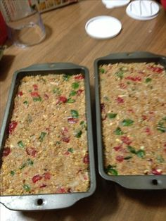 Refrigerator fruit cake. 1 box crushed graham crackers, 16oz candied cherry's (half red half green) cut up, 1 cup coconut, quart of pecans cut up, 1 can sweetened condensed milk. Mix all ingredients well and pack tightly in a loaf pan. Cover with plastic wrap then aluminum foil. Put in refrigerator for 3 days. The longer it stays in the refrigerator the better it is!