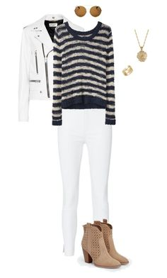 """""""White Jeans"""" by gone-girl ❤ liked on Polyvore featuring Yves Saint Laurent, rag & bone, JustFab, 2028, Givenchy and Cartier"""