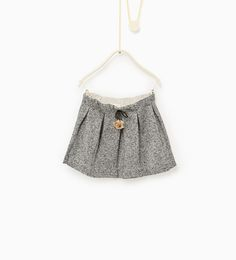 Image 1 of Pompom and box pleat skirt from Zara
