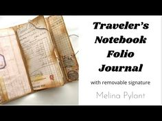 Travelers Notebook, Journal Ideas, The Creator, Diy Crafts, Create, Videos, Youtube, Recipes, Diaries