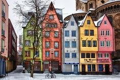 Cologne, Germany When I visit new places, I love to observe their style of architecture, particularly in their heritage areas. Places To Travel, Places To See, Beautiful World, Beautiful Places, Colourful Buildings, Colorful Houses, Cologne Germany, Voyage Europe, Architecture