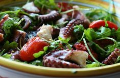 Octopus Salad With Arugula & Tomatoes