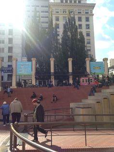 Pioneer Square Visit Portland, Times Square, Street View, Travel, Viajes, Destinations, Traveling, Trips