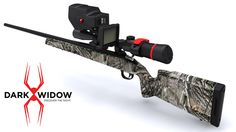Dark Widow Venom  The Venom is the new standard in night vision scope mounts. Allowing  shooters to see targets with clarity and distance in the dead of night.  Night shooting is now affordable with a durable, versatile, reliable, all  in one solution. Dark Widow Venom will allow for crystal clear night  hunting close range or at a distance with your own scope with no ambient  light needed. Easy operation, deadly results! Discover the night with Dark  Widow…  Features:      * Use Day or…
