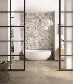 Bathroom Tiles Inspiration By Craven Dunnill for Fine Ceramic Tiles Kitchen Tile Inspiration, Bad Inspiration, Townhouse Interior, Happy New Home, Background Tile, Parents Room, Unique Tile, Light Grey Walls, Bathroom Interior