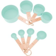 Make your kitchen and dining experience great with the Mint Measure Cup Set. You can purchase this, and find other affordable Kitchen & Dining, at your local At Home store. Mint Kitchen, Cute Kitchen, Copper Kitchen, Kitchen Pantry, Kitchen Items, Kitchen Utensils, Kitchen Gadgets, Kitchen Decor, Kitchen Appliances