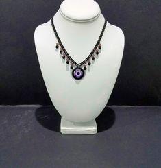 Necklace - Purple Eye Black Metal Rings, Jewelry For Her, Hair Jewelry, Women Jewelry, Handmade Jewelry, Etsy Handmade, Drawing Desk, Purple Flats, Give It To Me