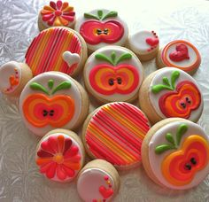 Girly Apple Cookies - HayleyCakes And Cookies