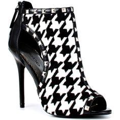 Bebe Shoes Lexington - Black Houndstooth