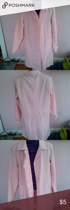 Springy Pink Trenchcoat Cute spring trenchcoat warm enough for the changing weather. Size says S(4/6). White Stag Jackets & Coats