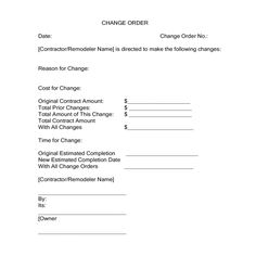 Free Construction Change Order Form - PDF by ckm38678 - change ...