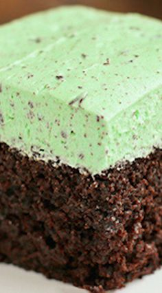 Chocolate Cake with Fluffy Mint Chocolate Chip Buttercream