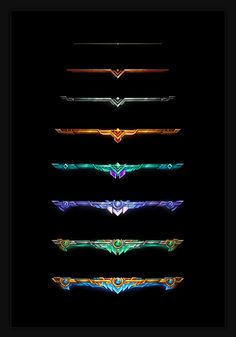 Game design 84935142960604904 - ArtStation – UI Assets (League of Legends), Samuel Thompson Source by kandyloo Game Logo, Game Ui, Game Concept, Concept Art, Logo Concept, Game Icon Design, Deco Gamer, Gui Interface, Team Logo Design