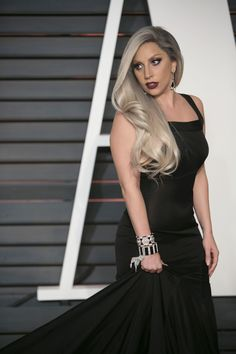 """Lady Gaga at the 2015 Vanity Fair Oscar Party in Beverly Hills, California February 22, 2015."""