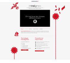 Air France - Mini-site, lancement du nouvel intranet Groupe