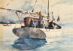 Andrew Wyeth - Polly (Sailboat with Figures) - 1935