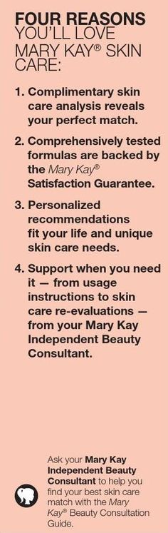 Heres just 4 of the many reasons you'll fall in love with Mary Kay! Feel free to contact me at www.marykay.com/chandler.paige | 909.560.2338
