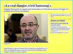 BUSINESS MONTRES + TRIBUNE DE GENÈVE « Le vrai danger, c'est Samsung »…