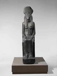 Statue of the Goddess Sakhmet  Period: New Kingdom Dynasty: Dynasty 18 Reign: reign of Amenhotep III Date: ca. 1390–1352 B.C. Geography: Egypt, Upper Egypt; Thebes, Karnak Medium: Granodiorite