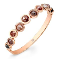 """O"" Collection Bangle in 18k Rose Gold by Rahaminov Diamonds"