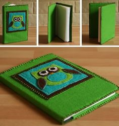 Learn how to make a journal cover out of felt with our step-by-step photo tutorial. Simple to put together and so versatile. A great (and cheap!) homemade gift idea for Christmas and birthdays.