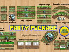 MINECRAFT PARTY PACKAGE  http://partyprintable.weebly.com/  Minecraft printable decoration, Minecraft birthday party decoration, Minecraft gifts, Minecraft invitation, Minecraft, Minecraft creeper, Creeper decoration, Minecraft digital file, Minecraft free decoration, minecraft printables, minecraft food, minecraft stickers, creeper printables