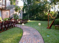 ORLANDO All Set For The Ceremony At Casa Feliz Winter Park Florida A Perfect Outdoor Wedding Venue In Orlando