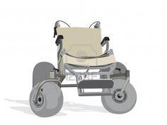 illustration of terrain wheelchair Stock Photo
