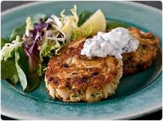 red pepper dressing open face crab burgers with red pepper dressing ...