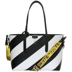 Off White Men Striped Pvc Tote Bag ($1,010) ❤ liked on Polyvore featuring men's fashion, men's bags, mens bags and men's tote bag