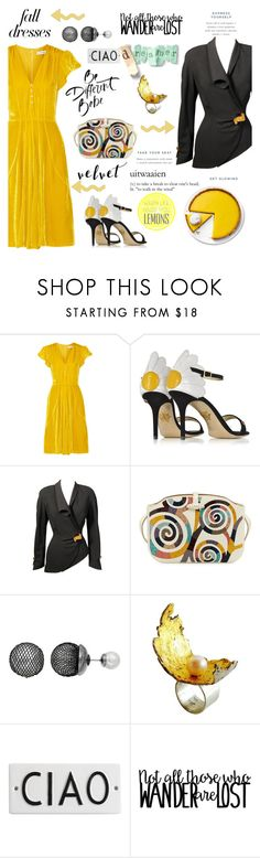 """Velvet in Fall"" by taci42 ❤ liked on Polyvore featuring Altuzarra, Charlotte Olympia, Thierry Mugler, The Row, Simply Vera, Heidi Abrahamson and Rosanna"