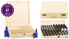 click here to check out this set- WOW! Great deal- Only $19.95 for this awesome gift set! It includes all of this: (1) Wooden Essential Oil Box (holds 25 bottles),(2) Keychain Pouch that holds 8 sample vials so you can always have your essential oils with