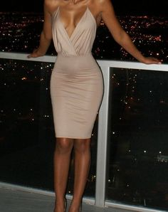 [ $20.00 ] Sexy V-neck sleeveless tight dress  HBA53CR
